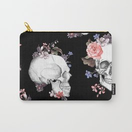 Day Of The Dead Floral Skulls Carry-All Pouch