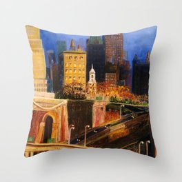 Dawn at City Hall Throw Pillow