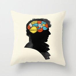 Sherlock Phrenology Throw Pillow