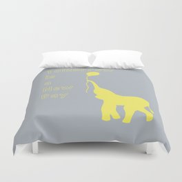 Elephant with Balloon: Tomorrow is a New Day Duvet Cover