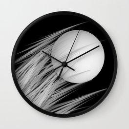 pale moon Wall Clock