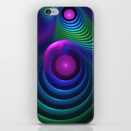 Beautiful Rainbow Marble Fractals in Hyperspace iPhone Skin