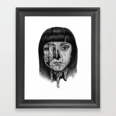 Wood Girl Framed Art Print
