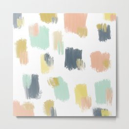 Understated Mixed Paint Swatches Metal Print