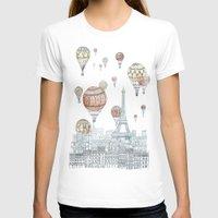 paris T-shirts featuring Voyages Over Paris by David Fleck