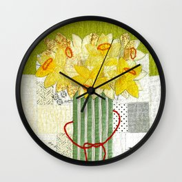 Spring bouquet in yellow Wall Clock
