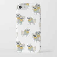 pugs iPhone & iPod Cases featuring Pugs by Ann Rubin