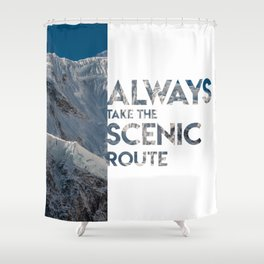 Scenic Route Shower Curtain