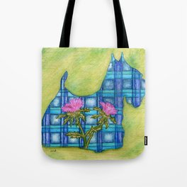 Scottish Terrier Silhouette Tote Bag
