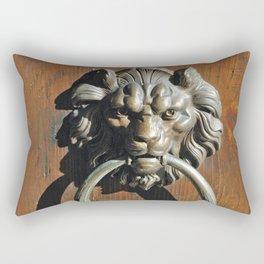 A door knocker in Venice Italy Rectangular Pillow