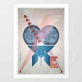 Broken Heart Is A Deadly Weapon Art Print