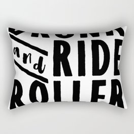 LET'S GET DRUNK AND RIDE ROLLER COASTERS T-SHIRT Rectangular Pillow