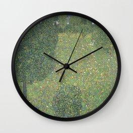 Gustav Klimt - Landscape Garden (Meadow in Flower) 1906 Wall Clock