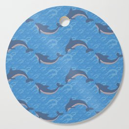 Playing Dolphins Pattern Cutting Board