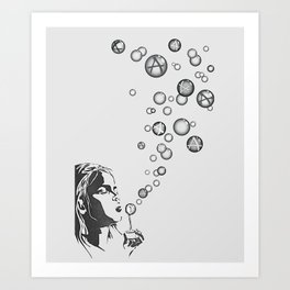 Anarchy Girl Art Print Art Print