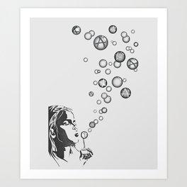 Anarchy Girl Art Print Art Print