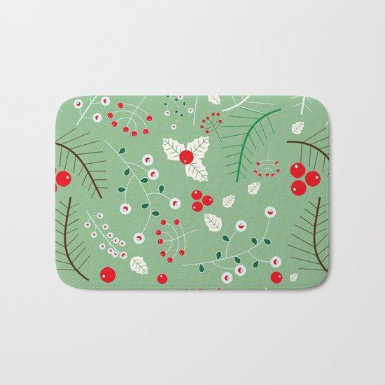 Mistletoe green Bath Mat