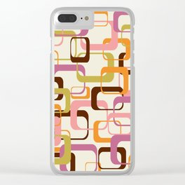 Mid Century Mod Shapes Clear iPhone Case