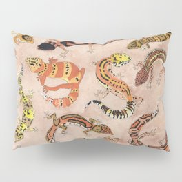 Leopard Gecko Lizard Morphs Pillow Sham