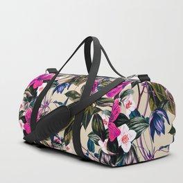 Pattern antique botanical flowers Duffle Bag
