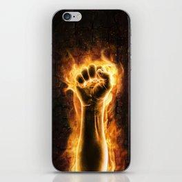 Fire fist iPhone Skin