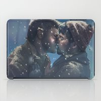 destiel iPad Cases featuring Winter Destiel by A Midget Banana