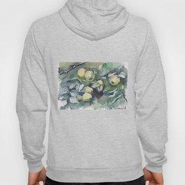 Watercolor ripe apples Hoody