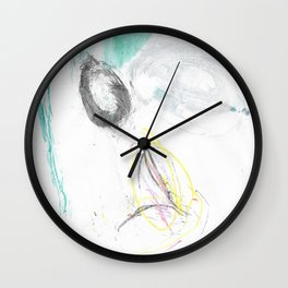 Motley Watercolor Wall Clock