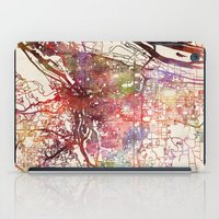 portland iPad Cases featuring Portland by MapMapMaps.Watercolors