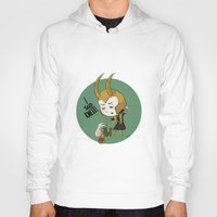 loki Hoodies featuring Loki by Deborah Picher Illustrations
