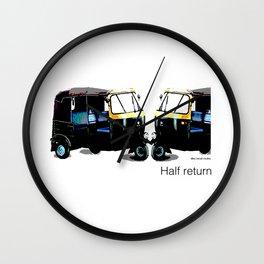 Half Return Wall Clock