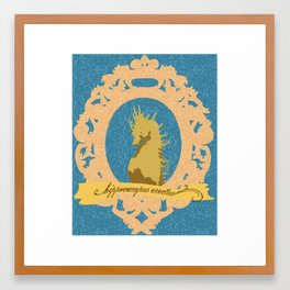hippocampus erectus Framed Art Print