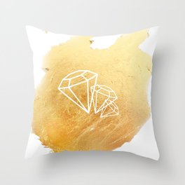 Faceted Gold Throw Pillow