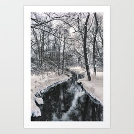 Almost frozen (3\4-BW, HDR) Art Print