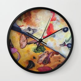 Pizza Lovemaking (LARGER SIZES) Wall Clock