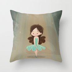 Little Ballerina Throw Pillow