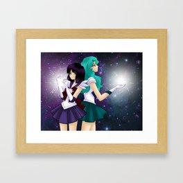 Hotaru and Michiru Framed Art Print
