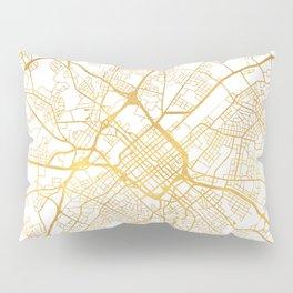 CHARLOTTE NORTH CAROLINA CITY STREET MAP ART Pillow Sham
