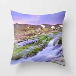 mountain river at 3000 meters high  Throw Pillow