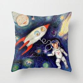Ground Control to Super Pig Throw Pillow