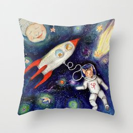 Ground Control to Super Pig Throw Pillow