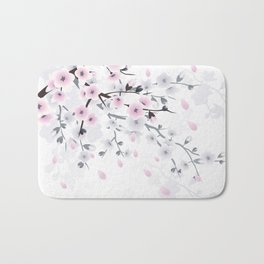 Pastel Cherry Blossom Bath Mat