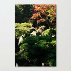 Japanese Tea Garden Waterfall Canvas Print