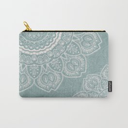 Mandala of Blue Dreams Carry-All Pouch