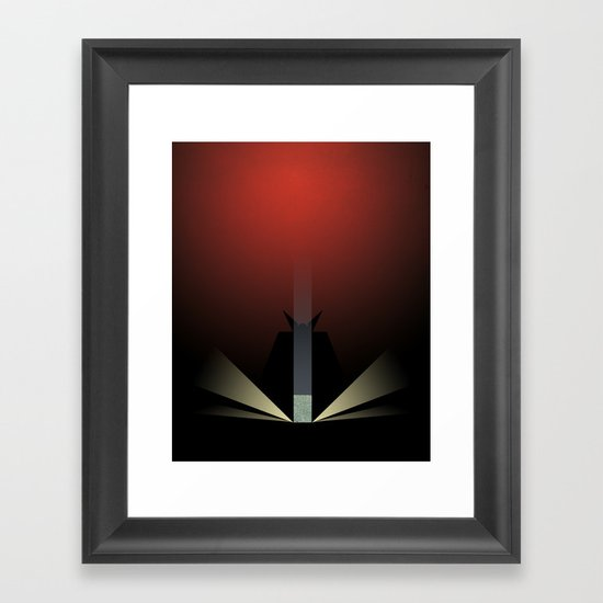 Smooth Minimal - A viking with a very big hammer Framed Art Print