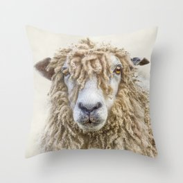Longwool Sheep Throw Pillow