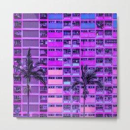 Vaporwave Tropical Metal Print