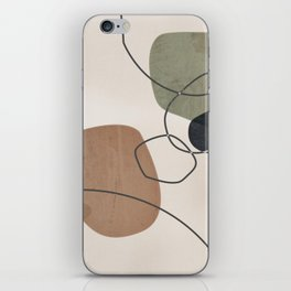 Linkedin Abstract in Sage Green, Cinnamon and Charcoal Grey iPhone Skin