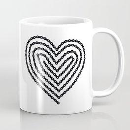 Bike Chain Heart Coffee Mug