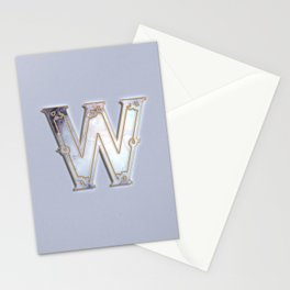 W letter monogram Stationery Cards
